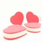 LZC 4Pcs Facial Makeup Sponge Powder / Cream / Liquid Face Blender Foundation Puff Flawless Smooth - Red Heart