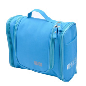 Ckeyin ® Large Storage Double Zipper Waterproof Polyester Men and Women Hanging Toiletry Wash Bag for Travel