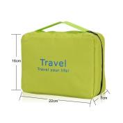 Fieans Durable Waterproof Bathroom Storage Toiletry Hanging Orgarnizer Bags Wash Bag-Green
