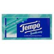 Tempo Breathe Easy tissues with cooling Menthol