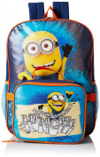 Despicable Me Boys Despicable Me Dual Backpack With Detachable Lunch Bag Top Of The Class, Multi, One Size