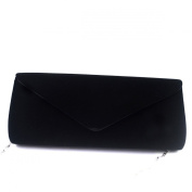 AiSi Ladies Soft Faux Suede Leather Envelope Clutch Bag Handbag