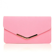 LUCKY Baby Pink Suede Medium Size Clutch Bag