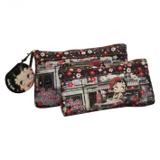 Betty Boop Cafè Two Cases Make Up Cosmetic Pochette Vanity Bag
