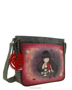Gorjuss The Collector Coated Cross Body Bag With Adjustable Shoulder Strap 30x25x8cms Santoro