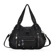 Washed Leather Vintage Hobo Style Shoulder Handbags