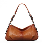 Meijia Women's Leather Vintage Hobo Shoulder Bag Handbag