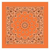 Paisley Bandana 100% Cotton-Orange