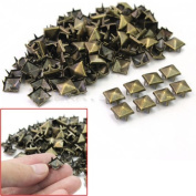 Mini-Factory 300 PCS DIY Metal Bronze Nailhead Punk Spikes Spots Pyramid Studs For Leathercraft / Shoes / Clothing and more