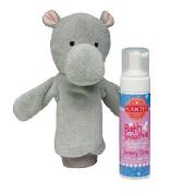 Scentsy Halla the Hippo Scrubby Buddy Mit & Jammy Time Scent Bath Smoothie