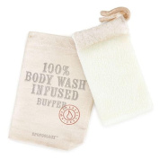 Spongology Body Wash Infused Body Buffer- Lavender & Eucaplyptus