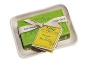 Savon de Marseille 100g Bath Soap Bar with Ceramic Dish - Olive Leaves