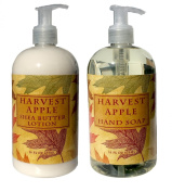 Harvest Apple Shea Butter Hand & Body Lotion and Harvest Apple Hand Soap Duo Set 470ml each by Greenwich Bay Trading Co.