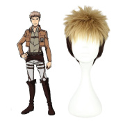 Mcoser 30cm Blond Brown Short Straight Hair- Attack on Titan Jean Kirstein Cosplay Wig
