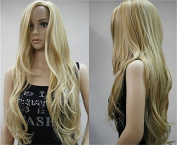 THZ long curly wavy blonde women's wigs cosplay fashion wigs
