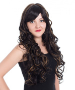 EDENKISS Women's Fashion Long Hair Replacement Natural Curly Wavy Full Head Wigs With Simulation Scalp Cosplay Costume Party Hairpiece