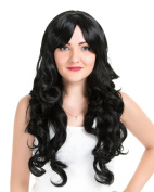 EDENKISS Women's Fashion Long Hair Replacement Natural Curly Wavy Full Head Wigs Cosplay Costume Party Hairpiece