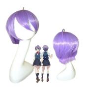 springcos Cosplay Classroom Crisis Shirosaki Iris Short Wig Purple