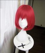 springcos Short Women Red Wig Cosplay Akagami No Shirayukihime