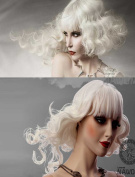 Nawomi New Arrival White Blond with Bang Kanekalon Wig