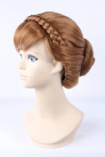 Anna Princess Frozen plate made brown bangs cosplay wigs