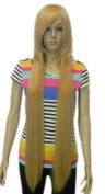Winson 100Cm Long Straight Fashion Blonde Fancy Dress Wigs Cosplay Party wig