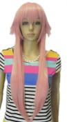 Winson 65Cm Women Short Long Straight Pink Loose Cosplay Party Fancy Dress wig
