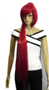 Winson Bob Long Straight Fire Red Ponytail Synthetic Hair Full Wig + Free cap