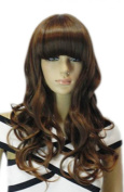 Winson Fashion Full Bangs Wavy Curly Hair Long Full Synthetic Wig Party Girl