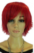 Winson Fashion Lace Red Party Club Short Full Synthetic Hair Wig Hairpiece