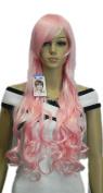 Winson Fashion Long Light Pink Wavy Straight Women's Cosplay costume wig