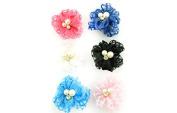 Linda Fashion Flower Hair Clip, No.08023, 12 Count