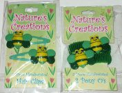 Nature'a Creations Bumble Bee Handpainted Hair Set