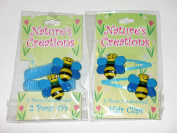 Nature's Creations Bumble Bee Hand Painted Hair Set