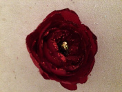 Glittered Ranunculus Artificial Flower Hair Clip/Pin Brooch