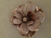 Velvet Anemone Artificial Flower Hair Clip/Pin Brooch