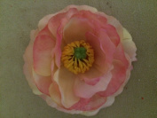 Medium Ranunculus Artificial Flower Hair Clip/Pin Brooch