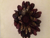 Velvet Gerbera Daisy Artificial Flower Hair Clip/Pin Brooch