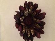 Velvet Gerbera Daisy Artificial Flower Hair Clip/Pin Brooch