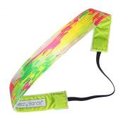 Sweaty Bands Fitness Headband - Luminosity Pink, Green - 2.5cm Wide
