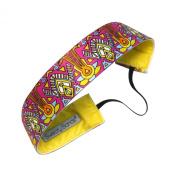 Sweaty Bands Fitness Headband - Pharaoh Fawcett Thick Pink, Multi - 3.8cm Wide