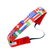 Sweaty Bands Fitness Headband - International Love - 2.5cm Wide