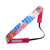 Sweaty Bands Fitness Headband - Pump It Up Blue - 1.6cm Wide