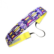 Sweaty Bands Fitness Headband - Short Circuit Purple, Yellow - 2.5cm Wide