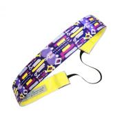 Sweaty Bands Fitness Headband - Short Circuit Purple, Yellow - 2.5cm Wide
