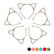 5Pcs, Leopard Girl Ladies Cat Ear Headband Wholesale for Halloween Cosplay Party
