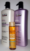 Value Pack Kirkland Professional Salon Formula Moisture Shampoo & Conditioner 33.8 FL/Litres PLUS Argan Hair Treatment Oil 4 FL