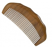 YK Care® Aromatic Green Sandalwood Comb for Healthier Hair Anti Static Wooden Comb -- 13cm