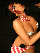 Pirate Body Temporary BODY ART Dancer Stripper Pirate Costume Xotic Eyes