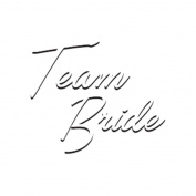 Team Bride - White Temporary Tattoo